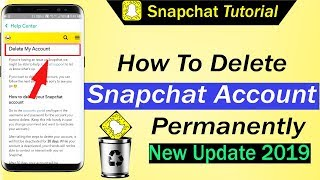 How To Delete Snapchat Account Permanently 2019