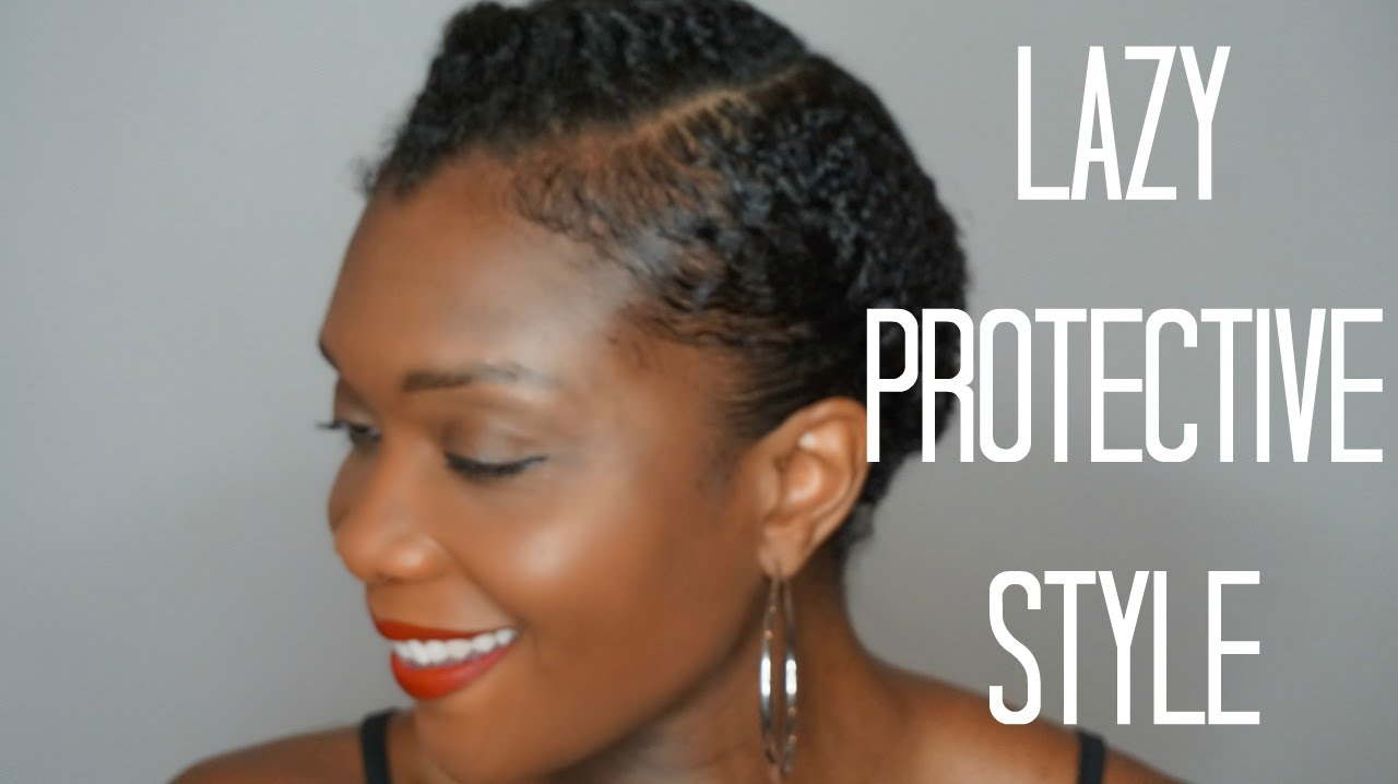 Go To Lazy Protective Hairstyle On Short Natural Hair Youtube