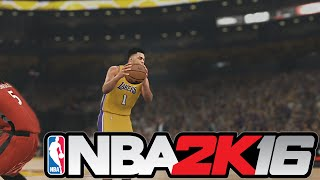 NBA 2K16 Gameplay - Lakers vs Raptors FULL 4 Quarters | Kobe Bryant Game Winner?