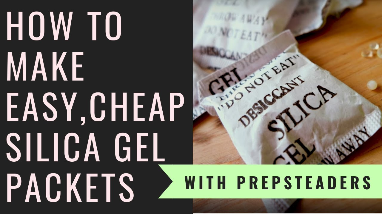 How to Make your own Silica Gel Desiccant Packets for pennies!