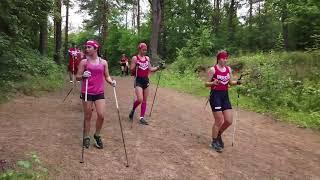 Тренировка сборной России по лыжным гонкам (юниорки).