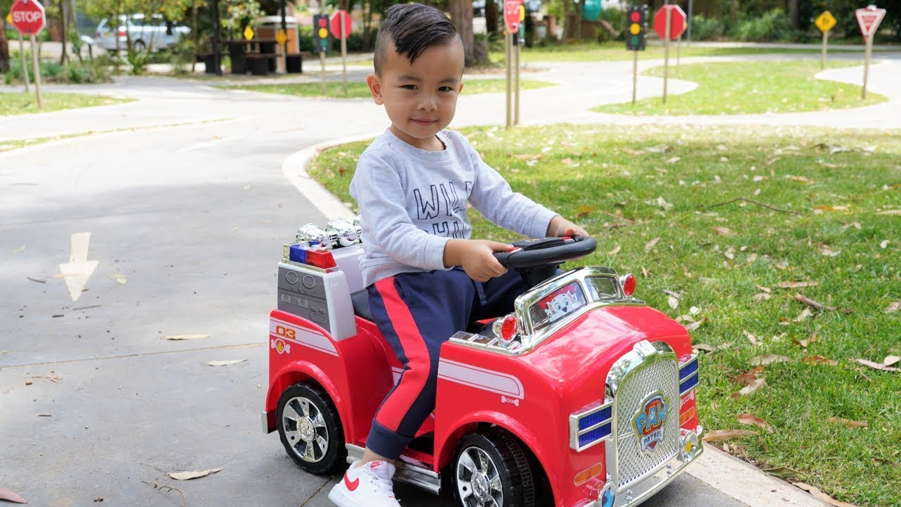 Paw Patrol Marshall Fire Truck Ride On Children S Park Fun With Ckn Toys