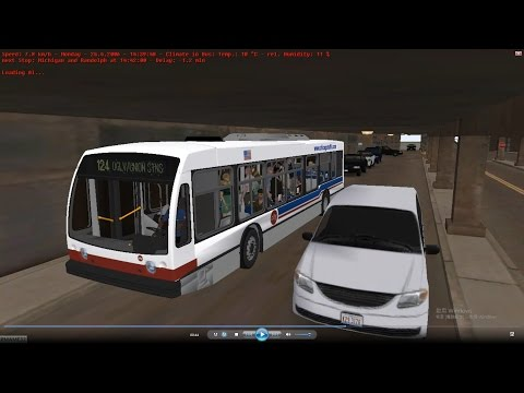 Omsi 2 tour (829) CTA 124 Union Stations - Navy Pier @ Chicago Nova Bus LFS 芝加哥