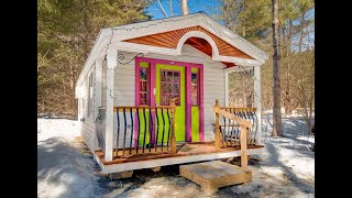 """""""the 12x26 Apple Blossom Cottage"""" - Over The Road Legal - Diy Tiny House - Kitchen, Shower, Toilet"""