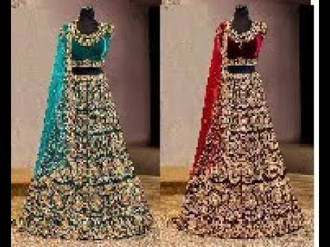functionwear-grand-lehenga-dresses-collections-||-designer-velvet-lehenga-models