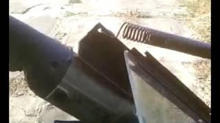 Самодельная стойка для болгарки из металлолома.