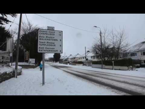 Goatstown, Dublin 14, Snow Storm Emma - Unravel Travel TV