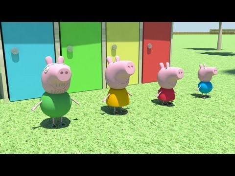 Peppa Pig Swimming in the Pool Animation 3D Kids Video Nadan