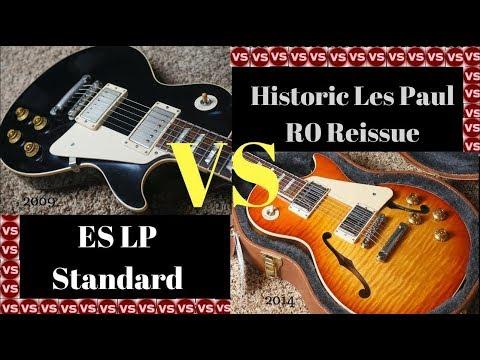 Do F-Holes Affect the Tone? Gibson 1960 Les Paul Reissue Black VERSUS ES LP Sunburst Tone Comparison