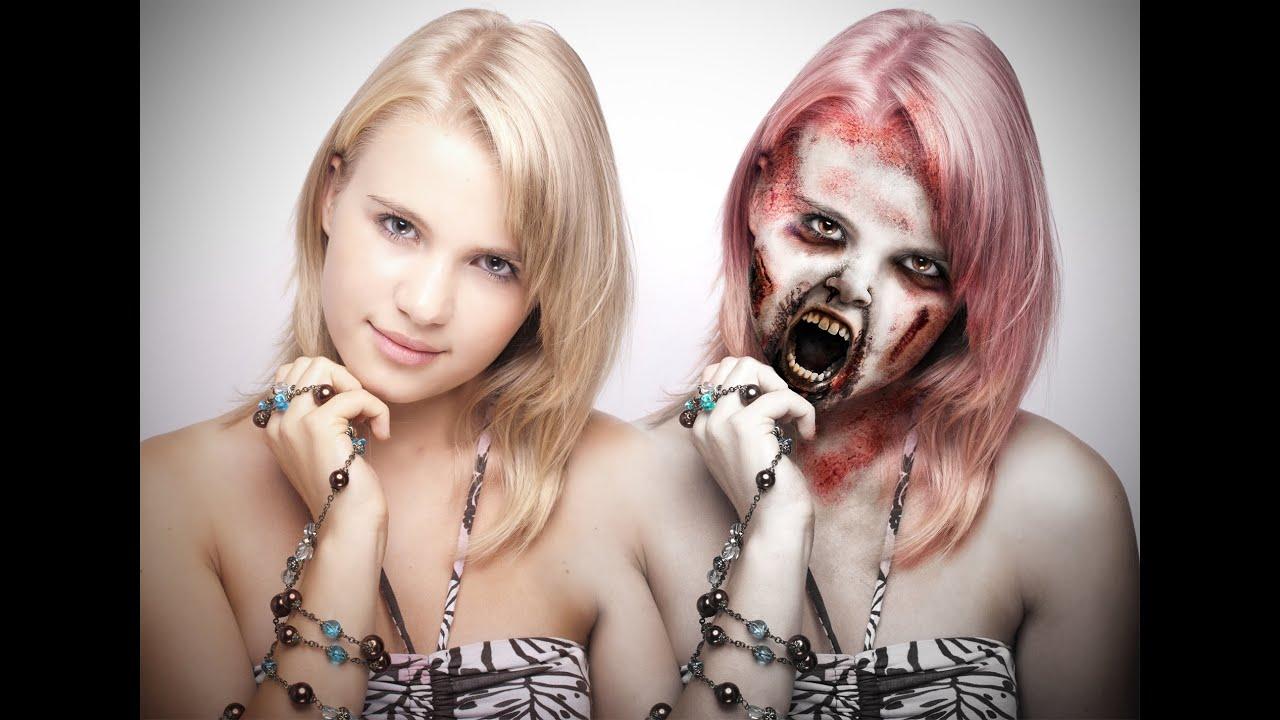 tuto effet maquillage zombie mort vivant avec photoshop youtube. Black Bedroom Furniture Sets. Home Design Ideas