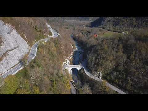 Napoleon Bridge On Soča River In Kobarid, Slovenia.