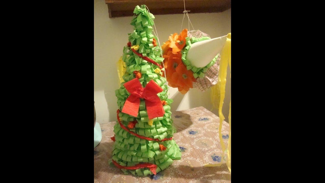 Como decorar una pi ata parte 2 2 youtube - Como hacer cosas de navidad ...