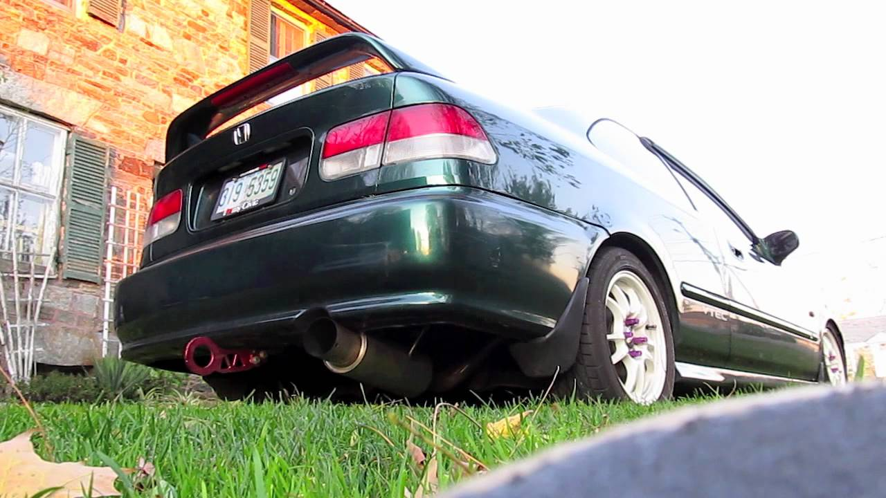 Megan Racing DriftSpec Exhaust on 99 Civic Ex HD  YouTube
