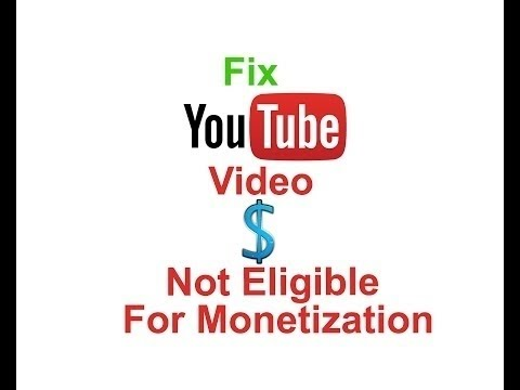How to Fix Not eligible for Monetization on Youtube In Urdu/Hindi