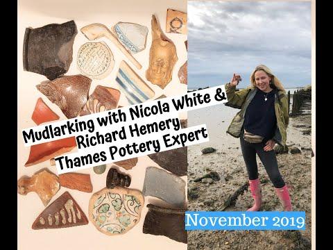 Mudlarking With Nicola White & Richard Hemery - Thames Pottery Expert