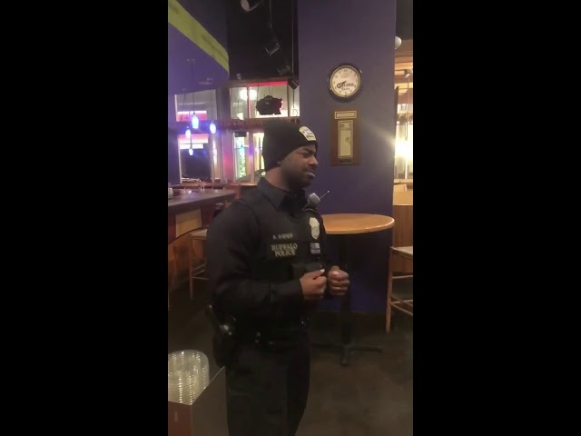 """Buffalo police officers singing """"Thinking out Loud"""""""