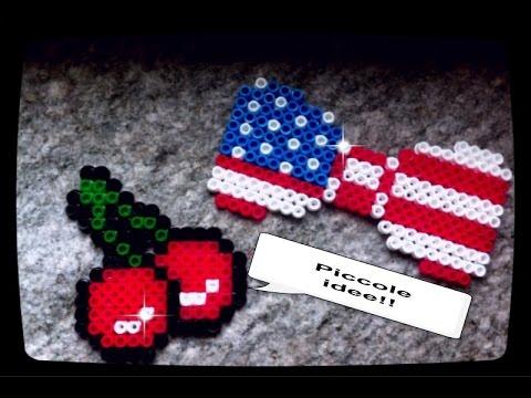 TUTORIAL Fiocco bandiera e ciliegie hama beads- American ...