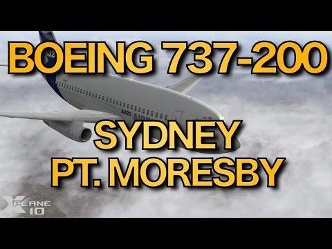 SYDNEY - PT. MORESBY (YSSY-AYPY)   FJS Boeing 737-200   X-PLANE   8 Nov 2015
