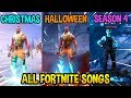 Download ALL FORTNITE THEME SONGS! *EMOTIONAL 😭* (Season 1, Halloween, Christmas, Season 4)