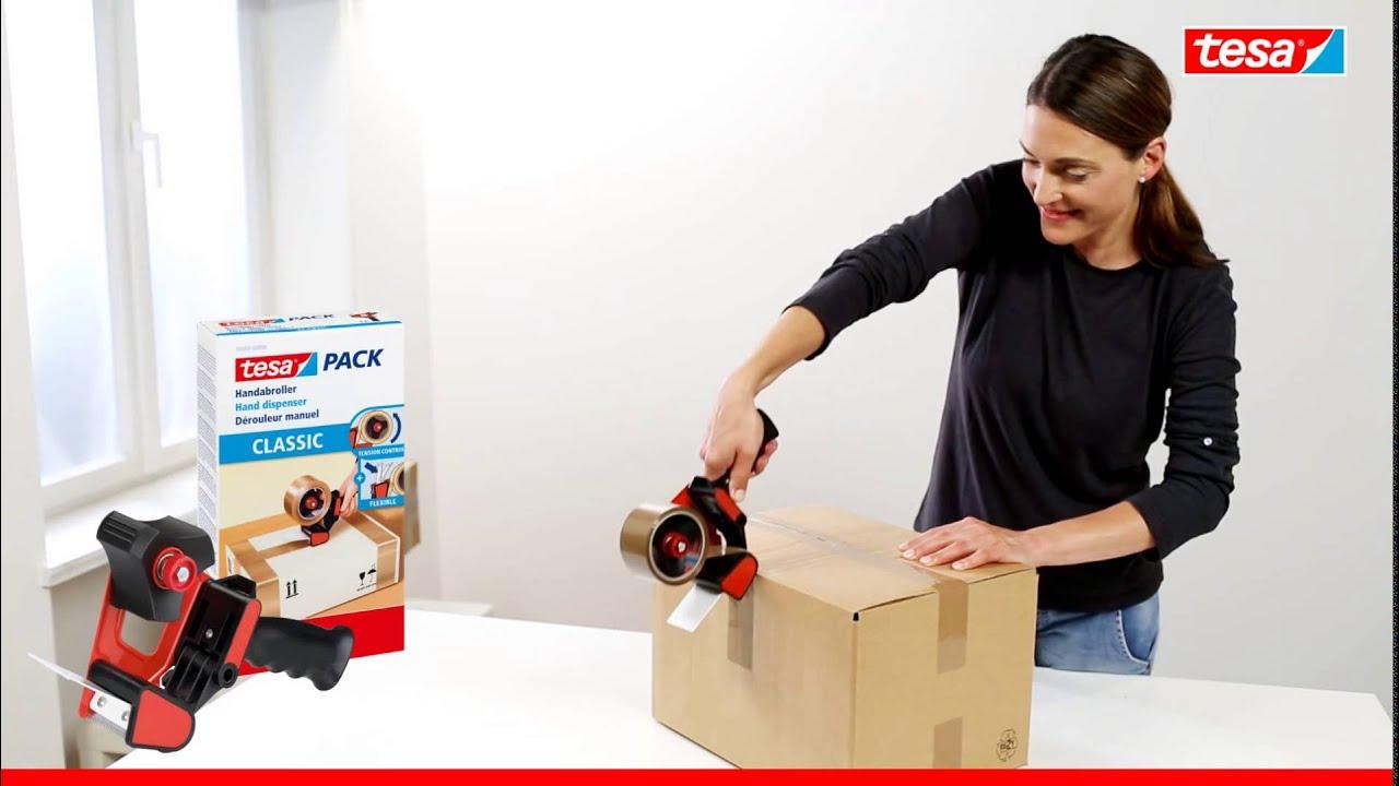 Tesa 56403 Classic Packbandabroller Youtube