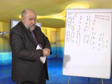 Лекция 4: Решение матричной игры в чистых стратегиях