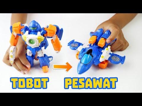 Tobot W Supersonic Bisa Jadi Pesawat - Review Mainan Anak Robot Transformers