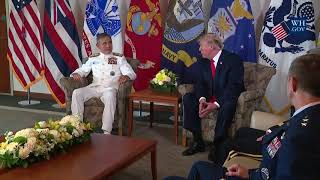 President Trump Participates in a United States Pacific Command Briefing