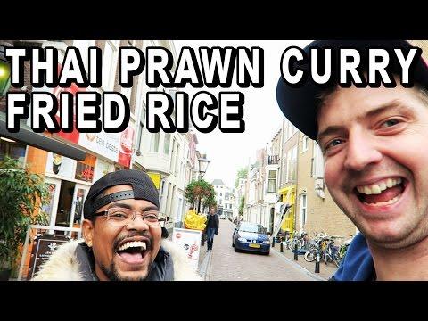 Thai Prawn Curry Fried Rice + meeting dutch youtuber Sidney Schmeltz - Thai food review