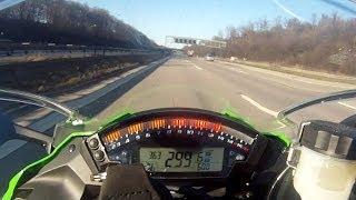 ZX-10R - 300 km/h - Kawasaki Ninja on German Autobahn