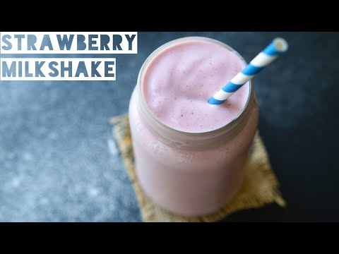 How To Make A Healthy Strawberry Milkshake Protein Shake | Low Calorie Strawberry Milkshake Recipe