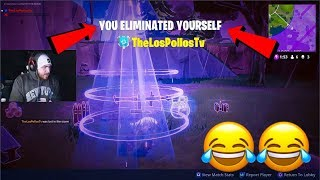 LosPollosTv Trying For First Fortnite Solo Win On Stream (Gone Wrong)