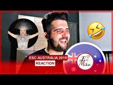Eurovision Australia 2019 -REACTION [Kate Miller-Heidke - Zero Gravity]
