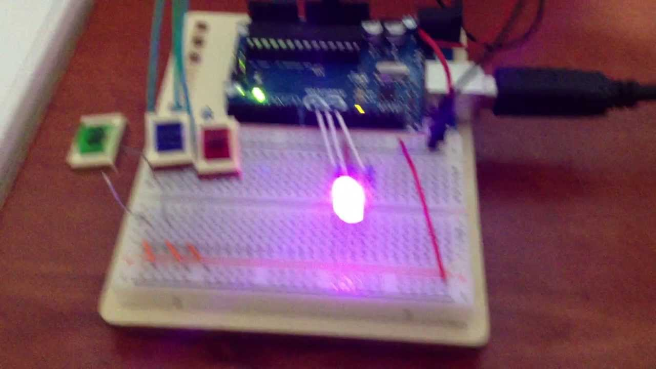 Arduino Projects Book | Project 04: Color Mixing Lamp - YouTube