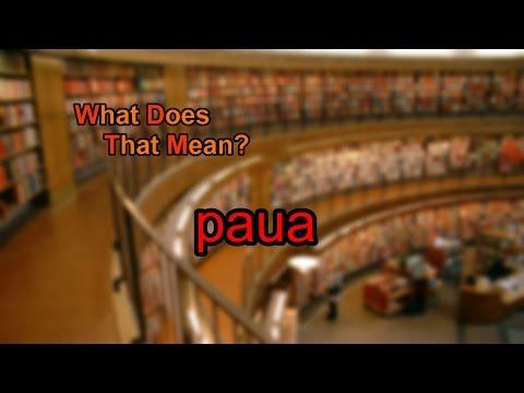 What does paua mean?