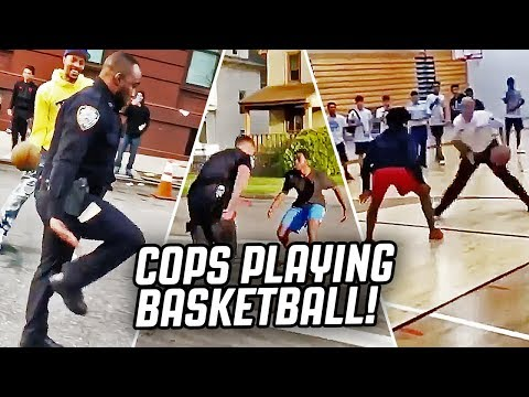 COPS PLAYING BASKETBALL COMPILATION!