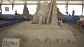 Sand sculpture time lapse in Virginia Beach
