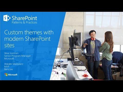 PnP Webcast - Custom themes with modern SharePoint sites