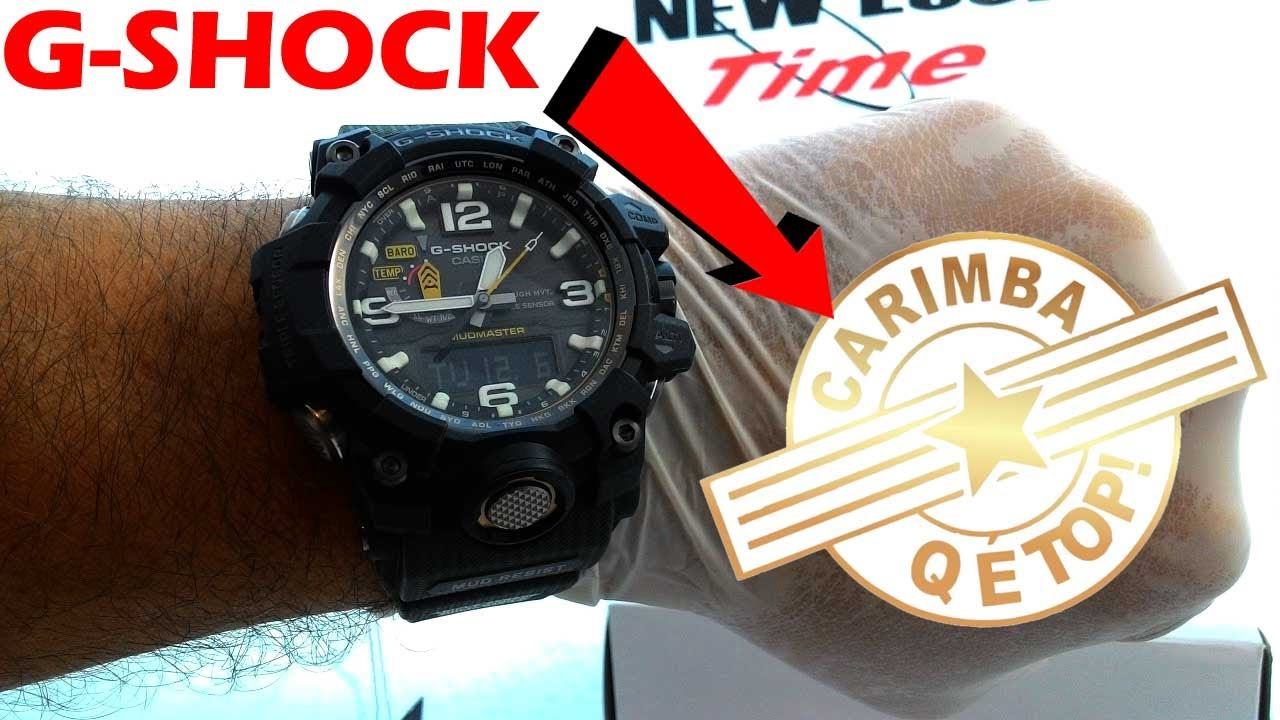 fafb3146e18 Relógio CASIO G-Shock Mudmaster GWG-1000-1A3DR New Look Time Relógios -  YouTube