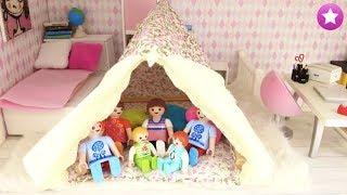 Los playmobil viven aquí ¿por qué hay una tienda de campaña en el cuarto de sofía? historias de