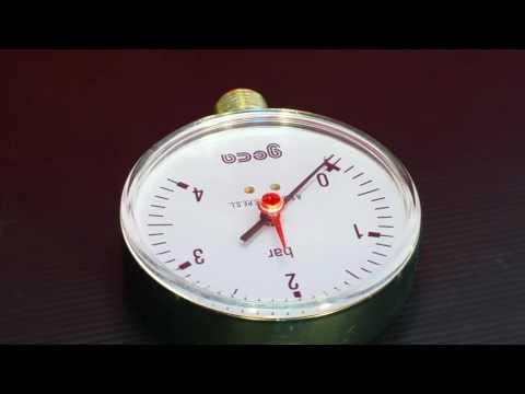 "Pressure Gauge 100mm Dial, 1/2"" base, 4 Bar"