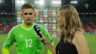 Julian Pollersbeck post-match interview - England v Deutschland (U21 EM 2017)