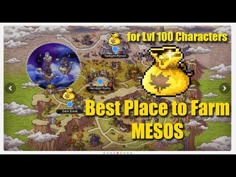 Maplestory M Best Place To Farm Mesos For Lvl 100 Youtube