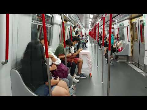 HONGKONG,MTR ride from admiralty Station to Shau Kie Wan Station