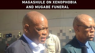 ANC secretary-general Ace Magashuleheld a press briefing on Tuesday on the issue of xenophobia and the ANC's attendance at Robert Mugabe's funeral. He also addressed gender-based violence.