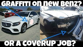 The TRUTH about the Graffiti Totaled New Mercedes! You won't BELIEVE what REALLY Happened!