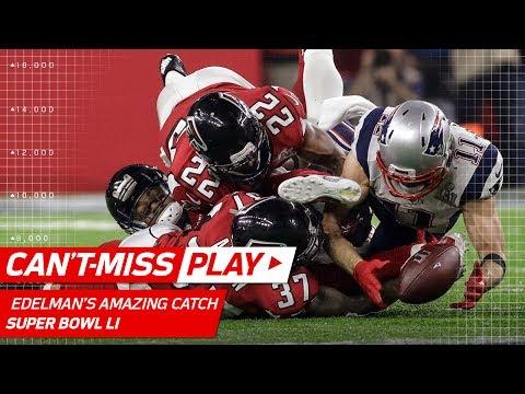 Julian Edelman Makes Ridiculous Catch! | Patriots vs. Falcons | Super Bowl LI Highlights