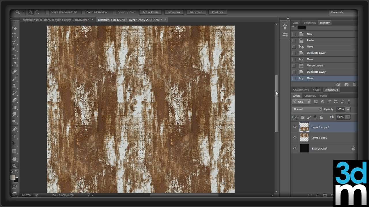 creating a tileable texture in photoshop 3dmotive youtube