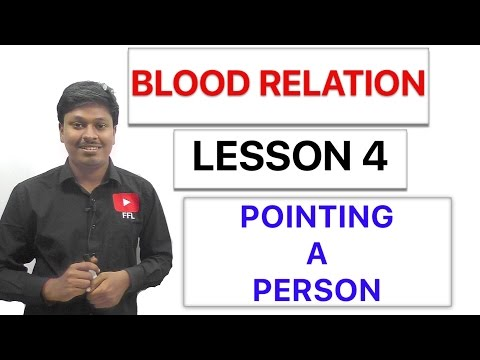 BLOOD RELATION - POINTING TO A PERSON - Lesson 4