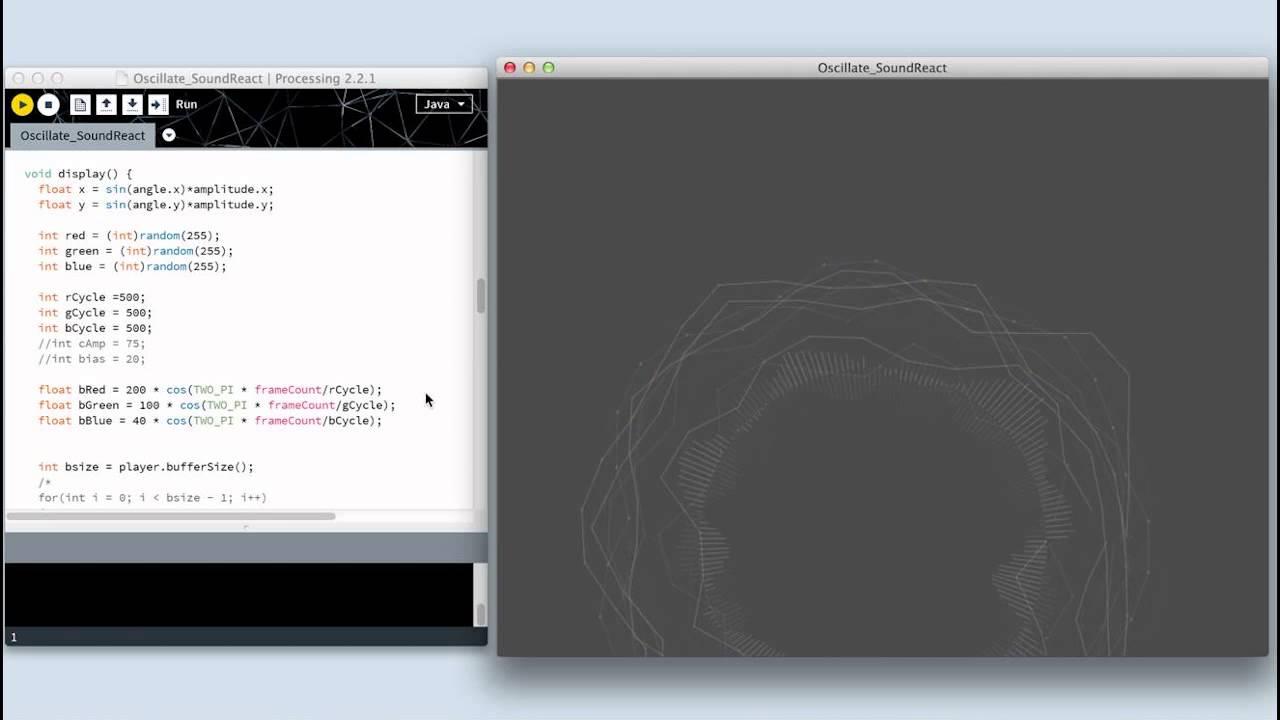 Processing: Testing Minim Library