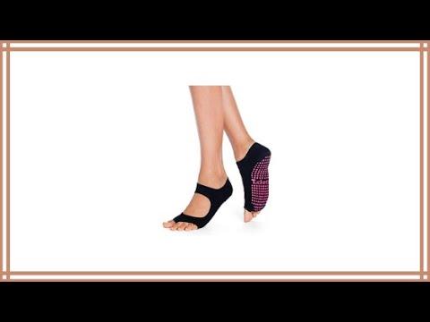 Yoga Socks for Women Non Slip Toeless Non Skid Sticky Grip Sock Review